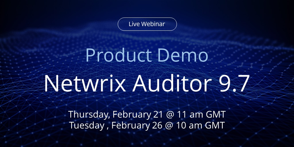 Banner Product Demo February Netwrix