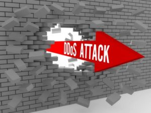 DDoS attack busting through