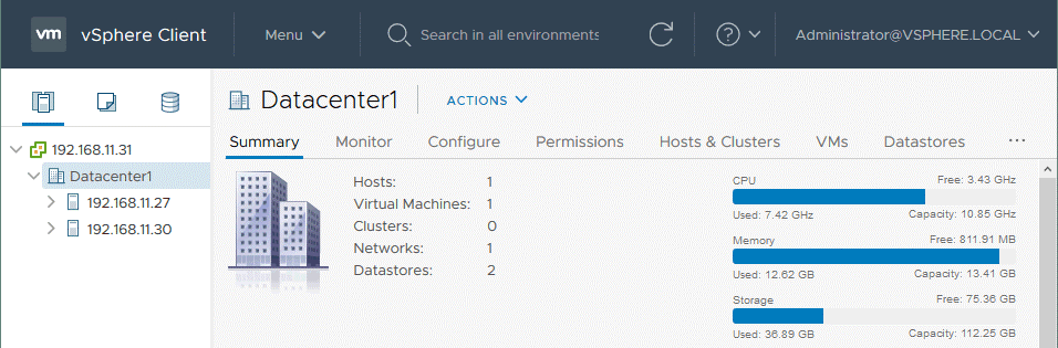 Multiple-ESXi-hosts-are-added-to-the-vCenter-inventory