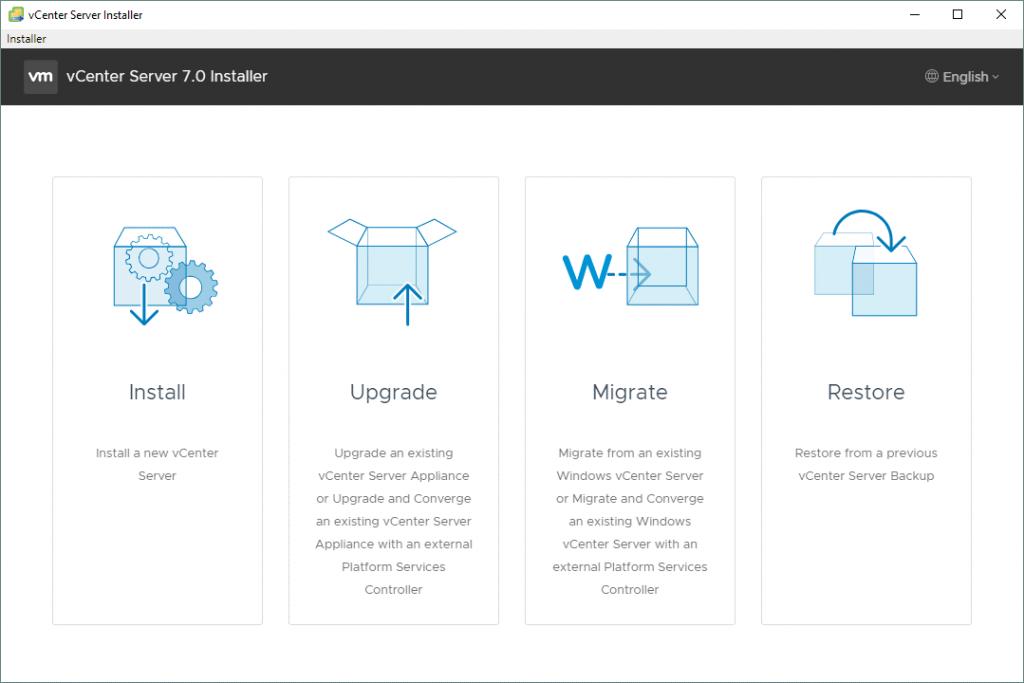 Running-a-standalone-vCenter-Server-7-installer