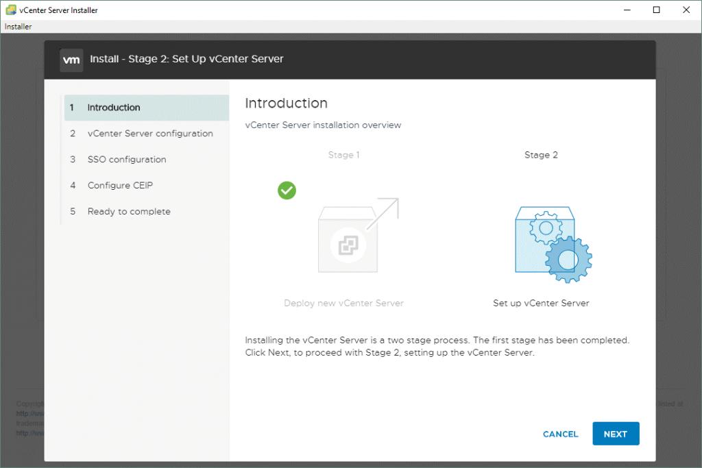 VMware-vCenter-Server-7-setup_stage-2