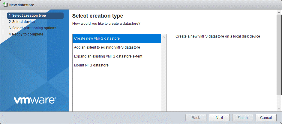 VMware-vSphere-installation-and-setup-7_creating-a-new-VMFS-datastore