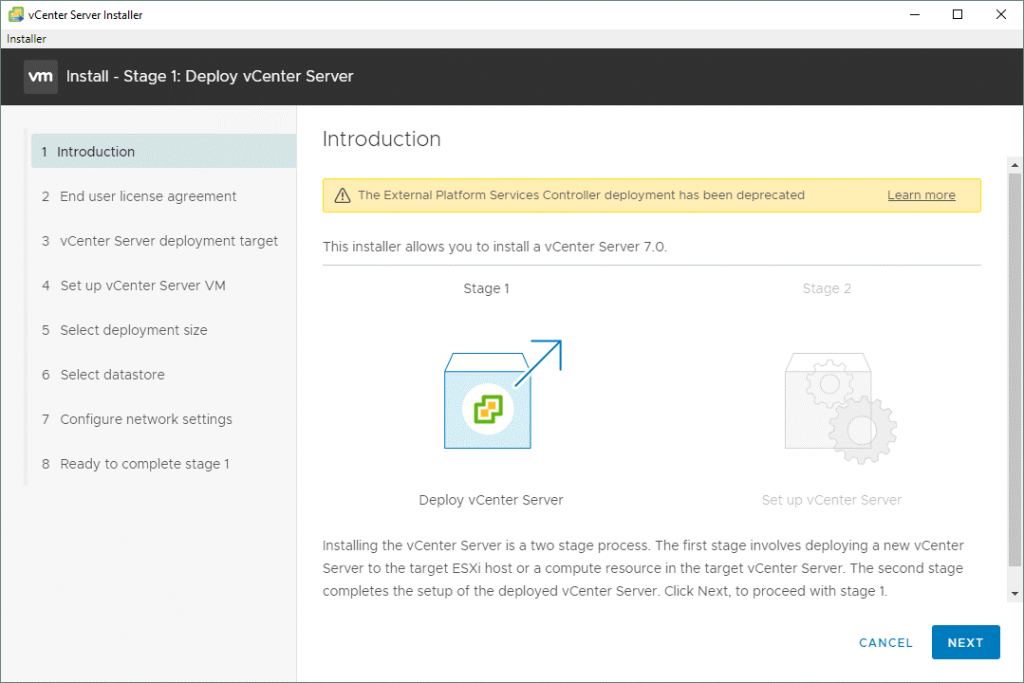 VMware-vSphere-installation-and-setup-7_the-first-stage-of-installing-vCenter-7