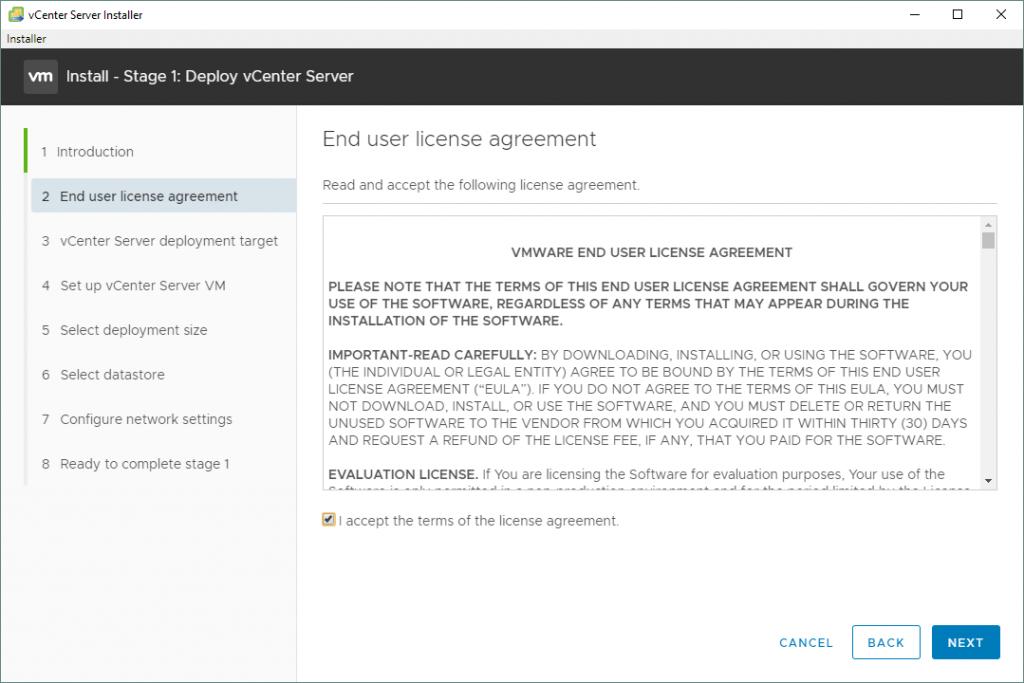 VMware-vSphere-installation-and-setup_the-End-User-License-Agreement-for-vCenter-7-setup