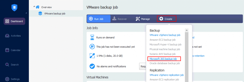 Creating-a-new-backup-job-to-perform-backup-of-OneDrive-for-Business