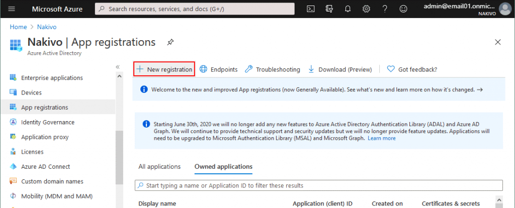 Creating-a-new-registration-for-a-backup-application-used-for-OneDrive-backup