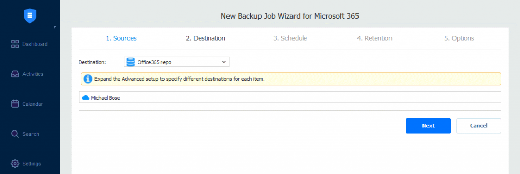 Selecting-the-Office-365-repository-as-the-destination-to-store-the-OneDrive-backup