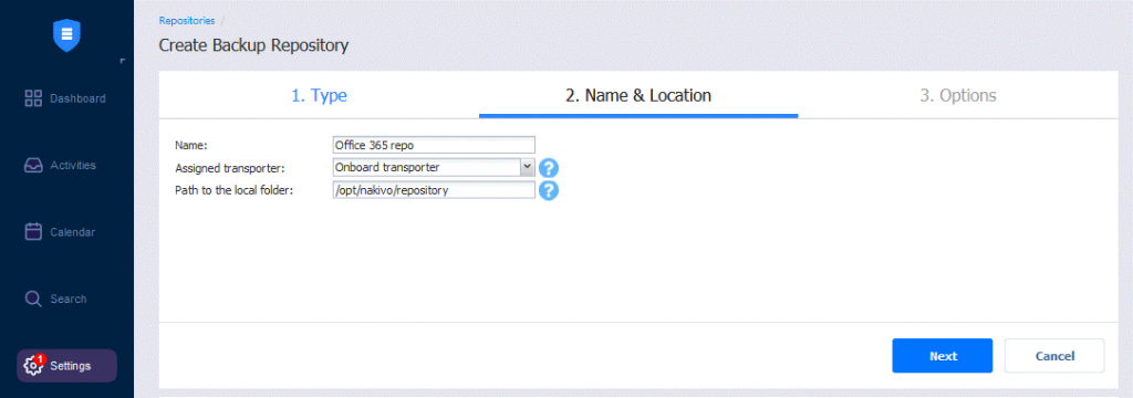 Setting-name-and-location-for-a-new-Office-365-repository-in-NAKIVO-Backup-&-Replication