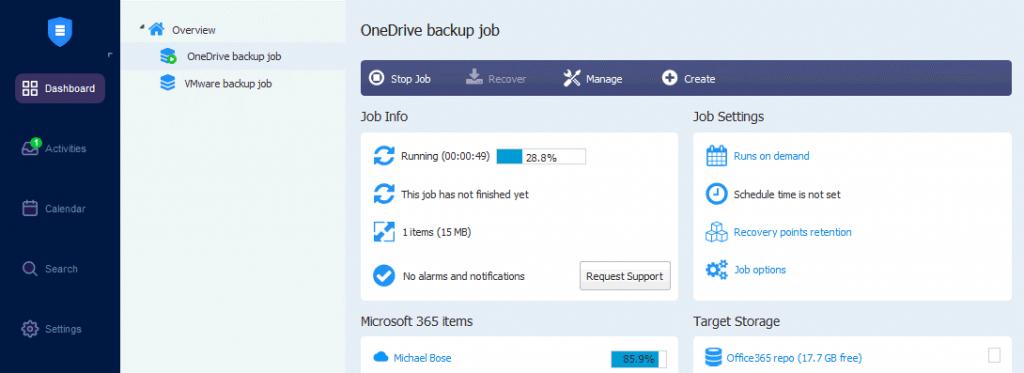 The-OneDrive-backup-job-is-running-in-NAKIVO-Backup-&-Replication