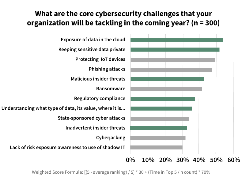 Titus cybersecurity survey results chart