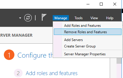 Removing Hyper-V in the Remove Roles and Features wizard