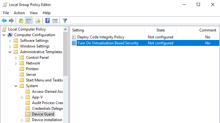 Turn Off Virtualization Based Security that uses Hyper-V