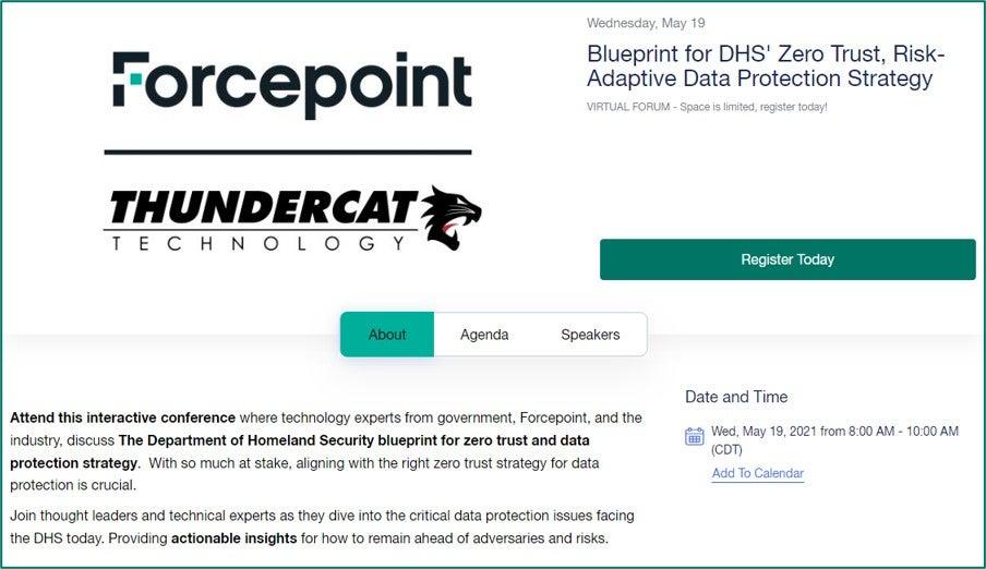 Dept. of Homeland Security Zero Trust Summit